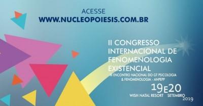 As inscrições para o II Congresso Internacional de Fenomenologia Existencial estão abertas
