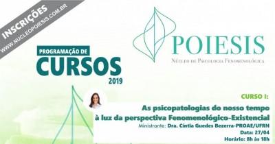 Cursos oferecidos pelo Núcleo Poiesis em 2019